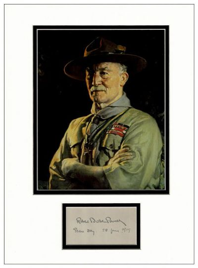 Lord Baden-Powell Autograph Signed - Scout Movement